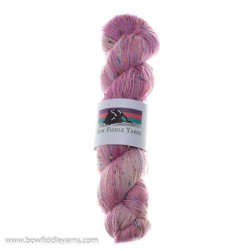 Bow Fiddle Yarns Superwash Merino & coloured nep- Dianthus Kiss Fleckles - 4ply yarn