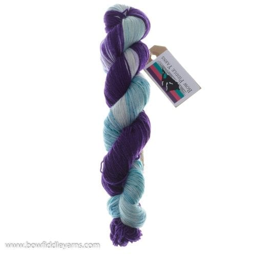 Bow Fiddle Yarns Superwash Merino - Aqua Violet - 4ply yarn
