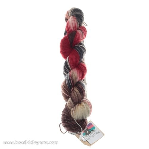 Bow Fiddle Yarns Superwash Merino - Hot Coals - 4ply yarn
