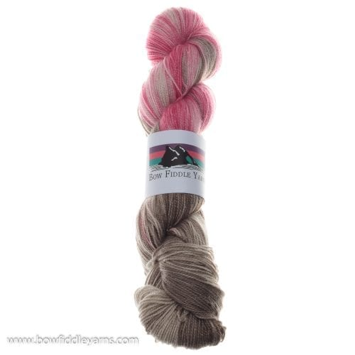 Bow Fiddle Yarns Merino, Nylon and Silver Stellina - Neopolitan - 4ply yarn